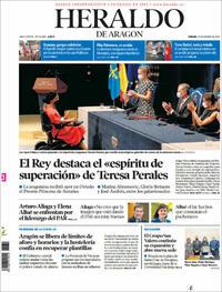 Portada Heraldo de Aragón 2021-10-23