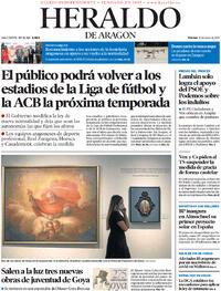 Portada Heraldo de Aragón 2021-06-25