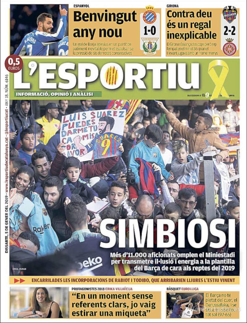Portada L'Esportiu 2019-01-06