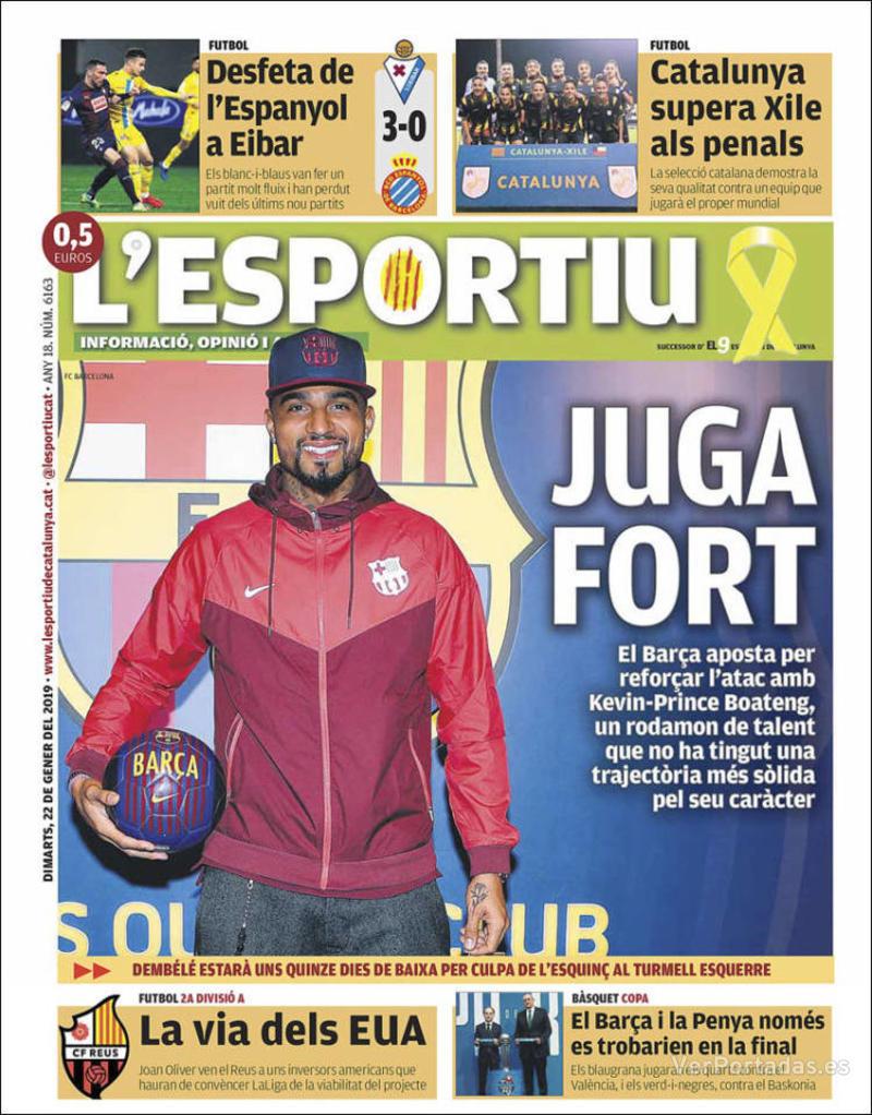 Portada L'Esportiu 2019-01-23