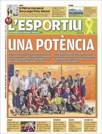 Portada L'Esportiu 2019-07-16