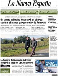 Portada La Nueva España 2019-01-17