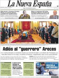 Portada La Nueva España 2019-01-18