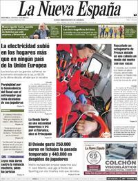 Portada La Nueva España 2019-11-19