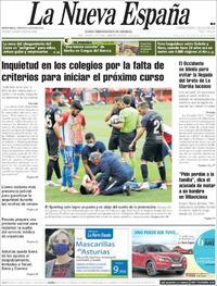 Portada La Nueva España 2020-07-07
