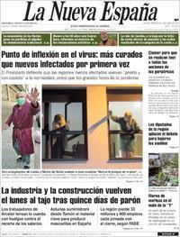 Portada La Nueva España 2020-04-08