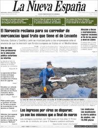 Portada La Nueva España 2020-10-20