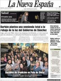 Portada La Nueva España 2020-02-21