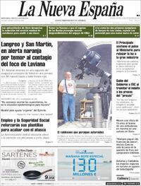 Portada La Nueva España 2020-09-24
