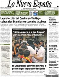Portada La Nueva España 2020-01-28