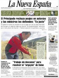 Portada La Nueva España 2021-05-07