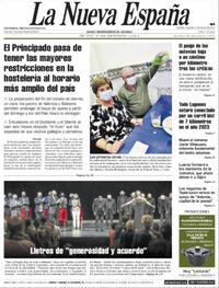 Portada La Nueva España 2021-05-08