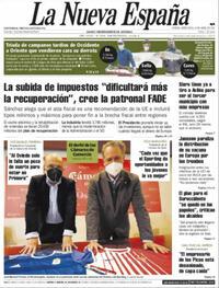 Portada La Nueva España 2021-04-14