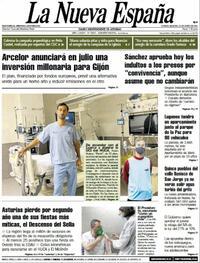 Portada La Nueva España 2021-06-22