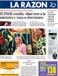 Portada La Razón 2018-09-25