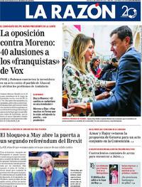Portada La Razón 2019-01-17