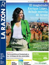 Portada La Razón 2019-08-18