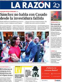 Portada La Razón 2019-08-20