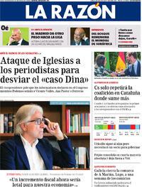 Portada La Razón 2020-07-06