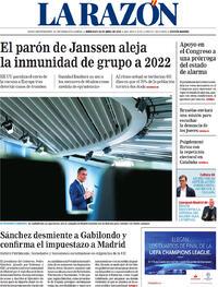 Portada La Razón 2021-04-14