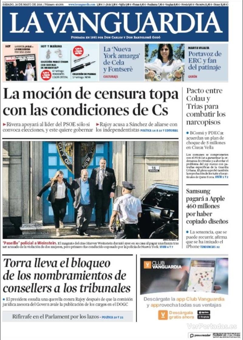 Portada La Vanguardia 2018-05-26