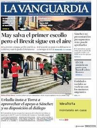 Portada La Vanguardia 2018-11-15