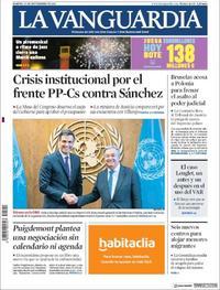 Portada La Vanguardia 2018-09-25