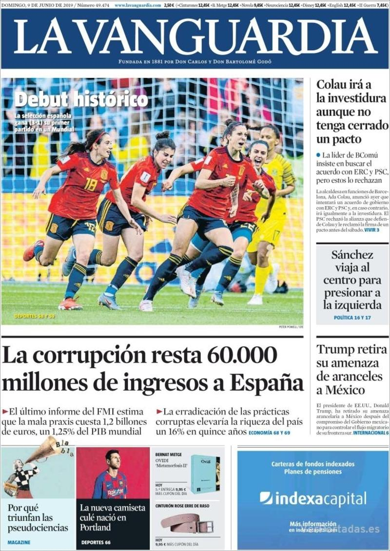 Portada La Vanguardia 2019-06-10
