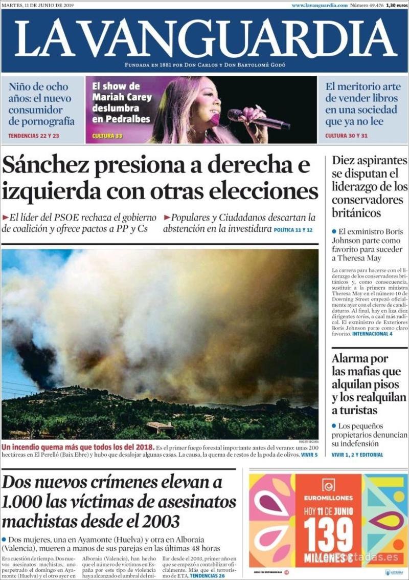Portada La Vanguardia 2019-06-12