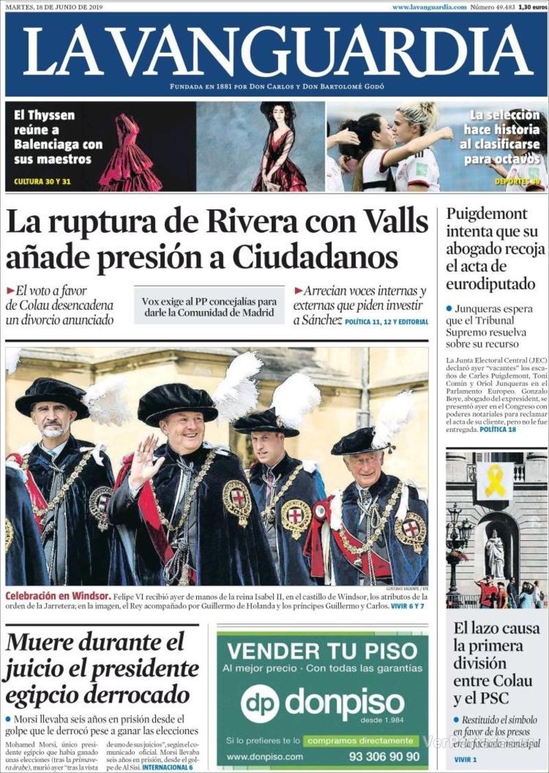 Portada La Vanguardia 2019-06-19