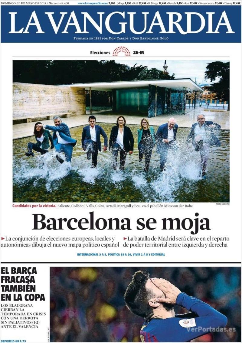 Portada La Vanguardia 2019-05-27