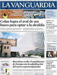 Portada La Vanguardia 2019-06-08