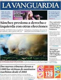 Portada La Vanguardia 2019-06-11