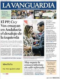 Portada La Vanguardia 2019-01-17