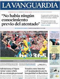 Portada La Vanguardia 2019-08-17