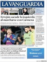 Portada La Vanguardia 2019-01-18