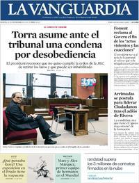 Portada La Vanguardia 2019-11-19