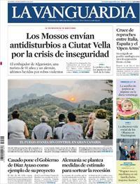 Portada La Vanguardia 2019-08-20