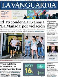 Portada La Vanguardia 2019-06-22