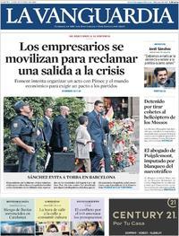Portada La Vanguardia 2019-10-22