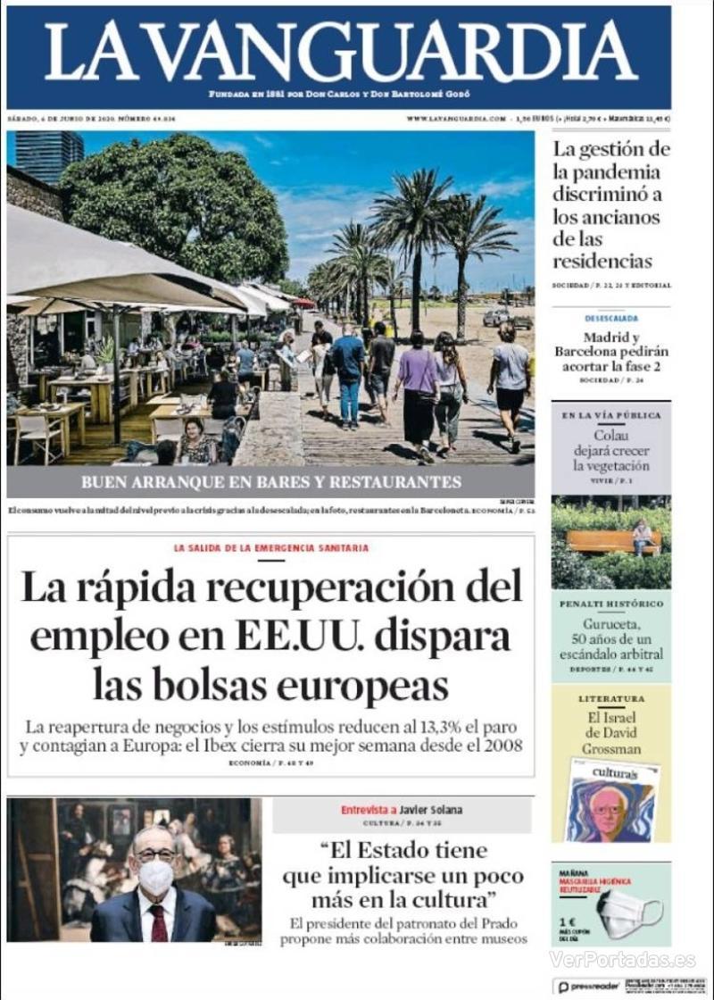 Portada El Correo 2020-06-06