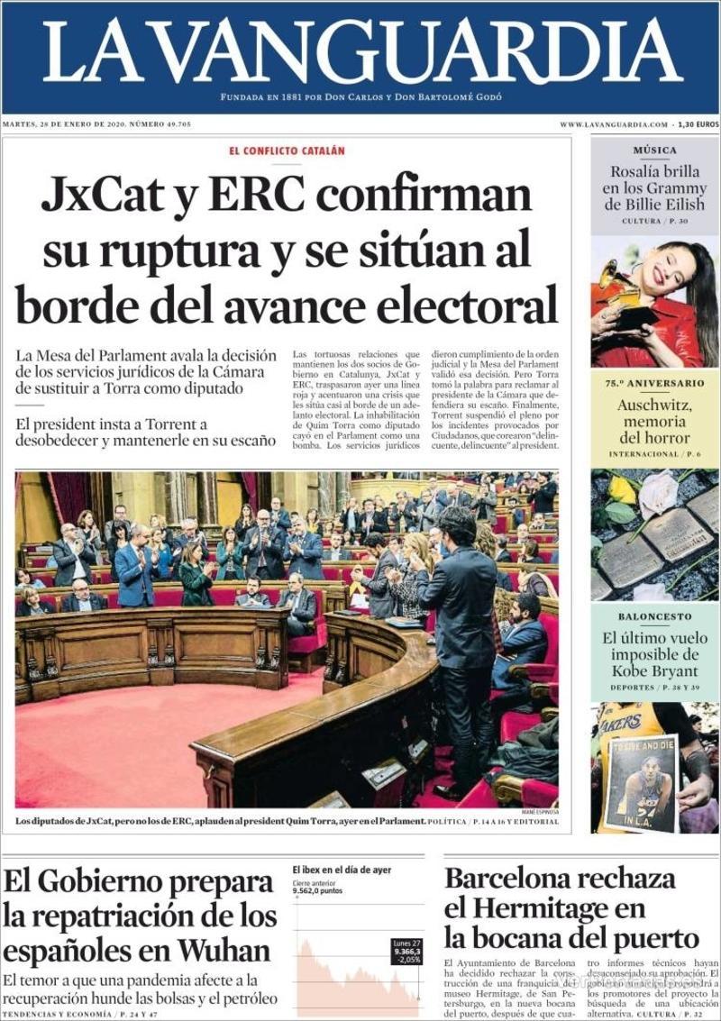 Portada El Correo 2020-01-28