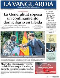 Portada La Vanguardia 2020-07-06