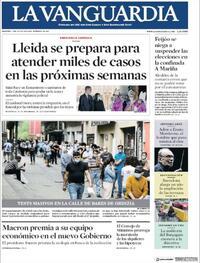 Portada La Vanguardia 2020-07-07