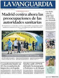 Portada La Vanguardia 2020-08-07