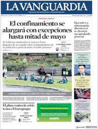Portada La Vanguardia 2020-04-08