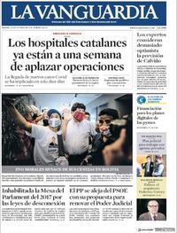 Portada La Vanguardia 2020-10-20
