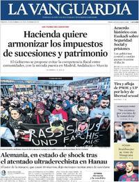 Portada La Vanguardia 2020-02-21