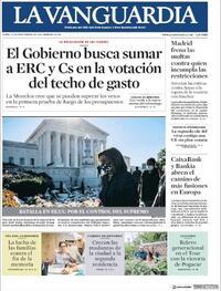 Portada La Vanguardia 2020-09-21