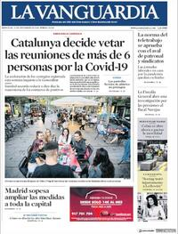 Portada La Vanguardia 2020-09-23
